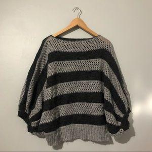 BCBGMaxAzria Striped Chunky Knit Sweater